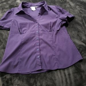 Button Down Short Sleeve No Wrinkle Top